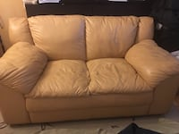 Real leather loveseat Toronto, M6G