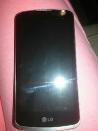 grey LG android smartphone