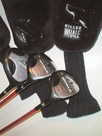 Wilson Killer Whale Golf Clubs Oversize Driver 3 Wood and 5 Wood Set with Matching Head Covers London