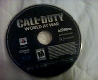Call of Duty world at war ps3 game disc Kelowna, V1V