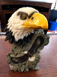 "Carved Eagle Head figurine 9"" H x 5"" W.  Ashburn"