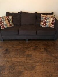 Brown fabric sofa and loveseat Macon, 31052