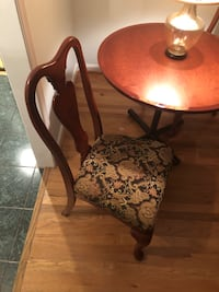 Round cherry table with two chairs dining set Vienna, 22182