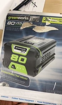 Greenworks 80v max 2 rechargeable lithium battery
