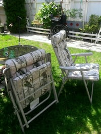 gray and black camouflage camping chair Queens, 11105