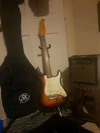 Jay Turser Electric guitar ,with small amp,a soft case, and a  stand.  Penticton, V2A 5V7
