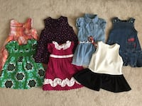 Lot of 7 toddler girl summer dresses (Baby Gap, Joe Fresh, Guess and more) - size 12-18 months Halton Hills, L7G 0B4