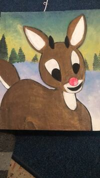 Rudolph painting on wood