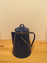 Reduced Enamelware Coffee Pot for Camping