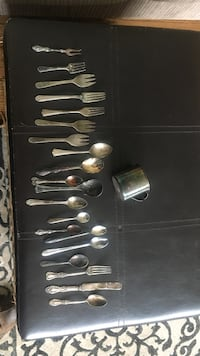 Silver plated antique spoons/forks, cup etc Lynchburg, 24501