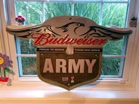 Budweiser Beer Army metal sign  Clifton