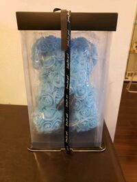 New blue rose bear never opened  Markham, L3T 0C7