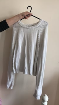 women's gray scoop neck long sleeve shirt Londra, N17