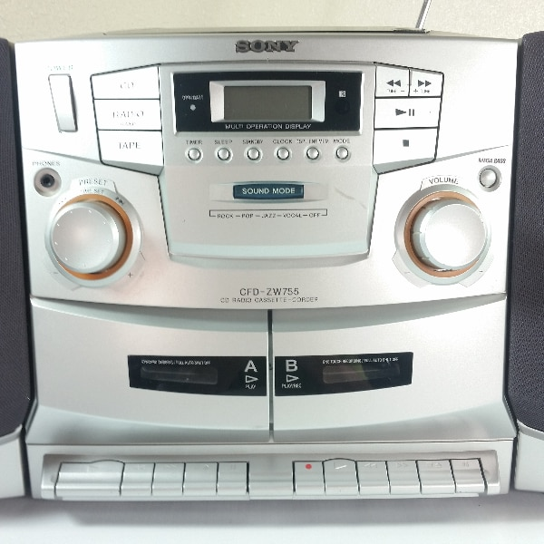 d247a4aaae8 Used Sony CFD-ZW755 Portable AM FM Dual Cassette CD Player ...