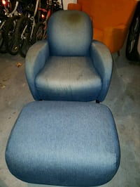 Blue chair with matching automon  13 km