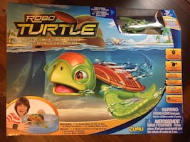 Robo Turtle with Turtle Bowl Rock Formation. Life Like Turtle