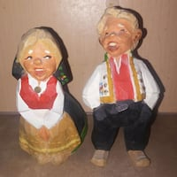 Vintage: Man woman wood statues hand carved in nor Edmonton, T6X 0P2