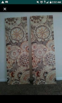 brown and white floral area rug Virginia Beach, 23455