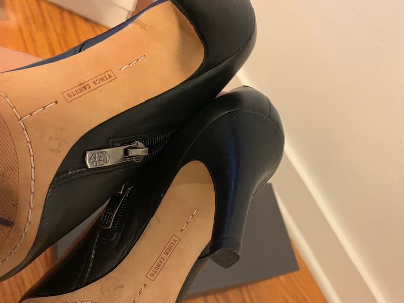 Vince Camuto Black Booties In Size 5.5 like new 3183a9c9-9b00-4c70-89e5-5ca43a491755