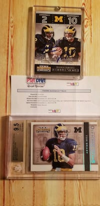 Tom Brady and Charles Woodson auto. Valley Cottage, 10989