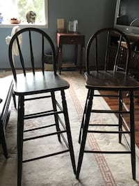 two brown wooden bar stools Scarborough, 04074