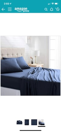 full sheet set. navy blue