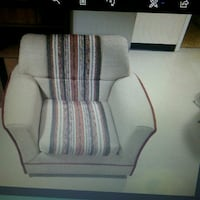 white and gray fabric sofa chair Mississauga, L5V 1E9