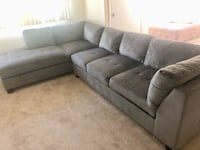 2 Piece Gray Sectional Washington, 20020