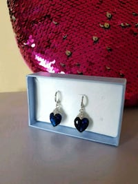 Sapphire Rhodium plated Earrings  Toronto, M9L 2C7