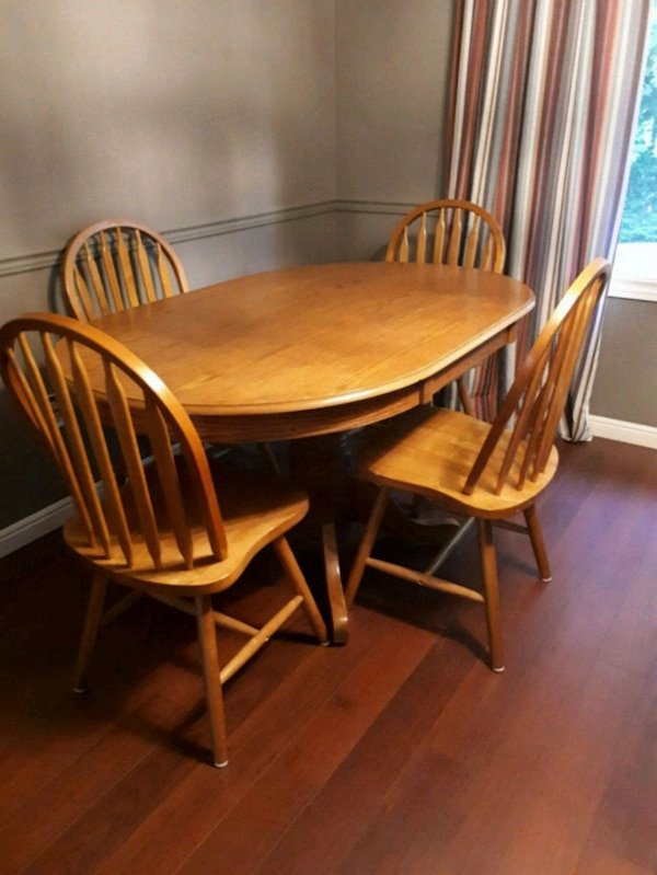 Used Solid Oak Dining Table And 4 Chairs For Sale In Hamilton