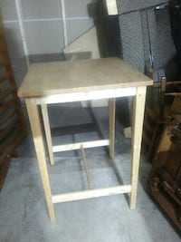 square white wooden end table Surrey, V3S 1L1
