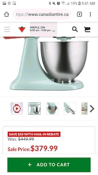 Kitchen aid robin egg blue mixer Vaughan, L4H 0C2