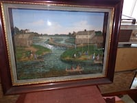 Antique  1833 Chicago 3D Diorama Picture RALEIGH
