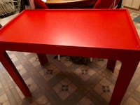 Long red wood table  Edmonton, T5S 2B4