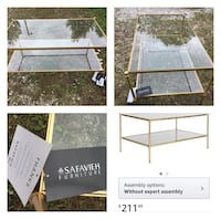 New Double glass coffee table. See all photos Etna, 43062
