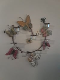 Metal Butterfly Candle Holder Wall Decoration Las Vegas, 89118
