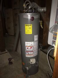 gray and black water heater