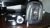 Black fujifilm digital camera