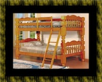 Wooden twin bunkbed frame with 2 mattress Baltimore, 21215