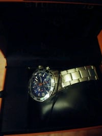 round silver chronograph watch with link bracelet Palm Bay, 32908