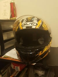 black and yellow hjc full face helmet 51 km