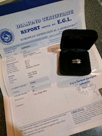 Wedding band and engagement ring 24 mi