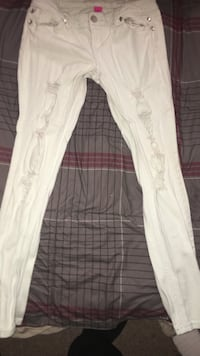 Distressed white jeans Patchogue, 11772