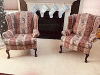 brown and gray floral fabric sofa set Sterling, 20166