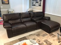 Leather Reclining Sectional Sofa with Reclining Chaise Pinecrest, 33156