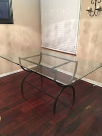 Glass Metal Dining Room Table and Chairs Pickering, L1V 6S6