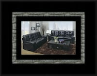 U6900 black bonded leather sofa and loveseat Riverdale Park