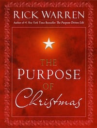 "Book ""The Purpose of Christmas"" by Rick Warren"