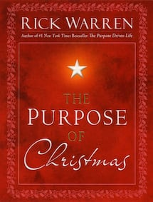 """Book """"The Purpose of Christmas"""" by Rick Warren"""