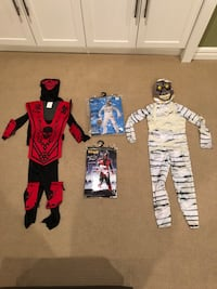 Ninja, lizard and mummy costumes size small. Perfect for ages 5-9 Edmonton, T6R 0B1